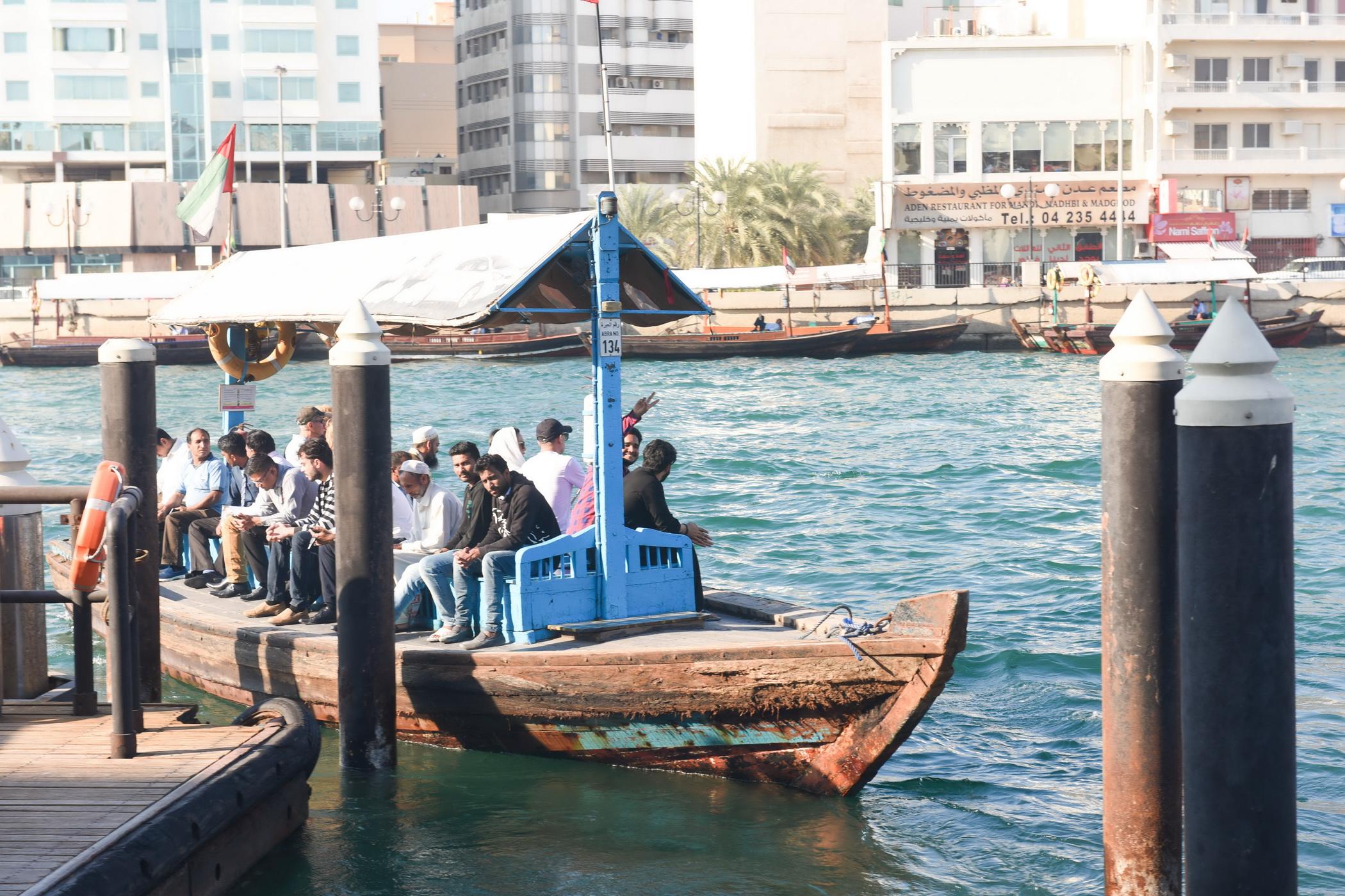Trip on an abra Dubai