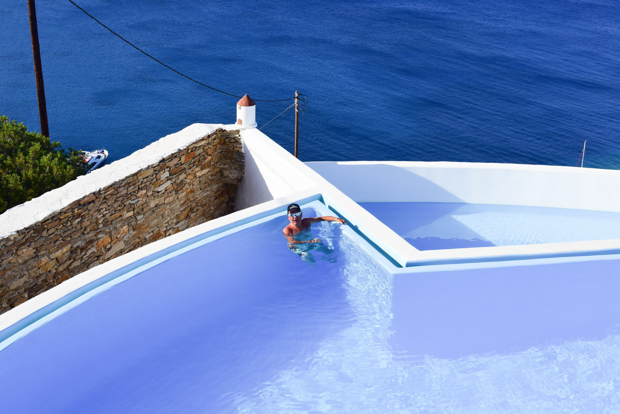 Petradi Hotel pool Ios Island Greece